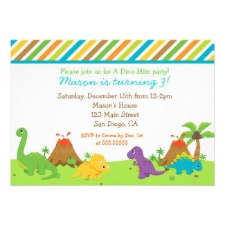 Dinosaur Birthday Party Invitaions Invites