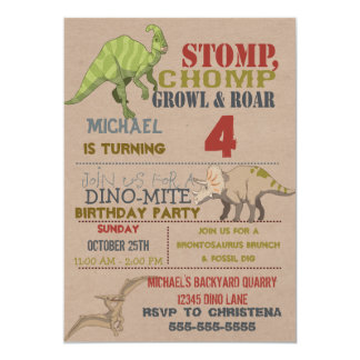 Dinosaur Birthday Party Invitation
