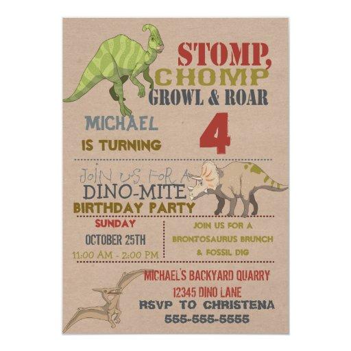 Dinosaur Birthday Party E Invitations Image Inspiration of Cake – E Invitations Birthday
