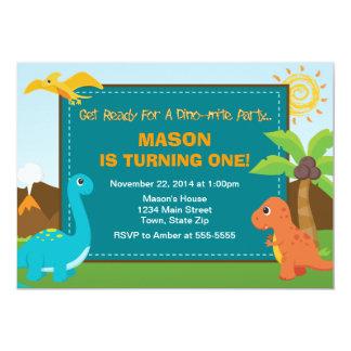 Dinosaur Birthday Party Invitation 5x7 Card