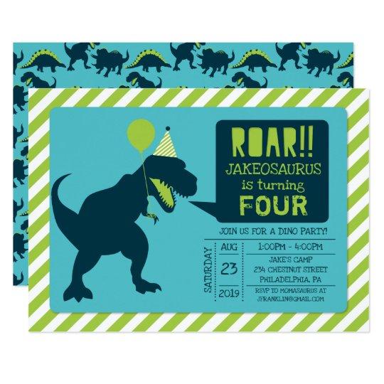 Dinosaur Birthday Party Invitations Zazzle Com