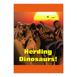 Dinosaur Birthday Party Invite