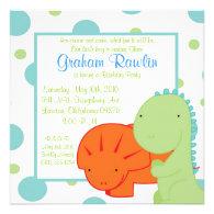 dinosaur birthday party invite cute fun simple