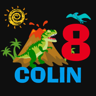 Dinosaur Birthday Party Personalized Shirt