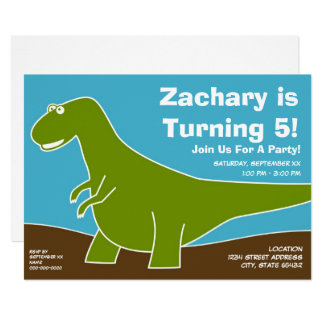 Dinosaur Birthday Party Theme Card