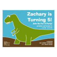 Dinosaur Birthday Party Theme Personalized Announcement