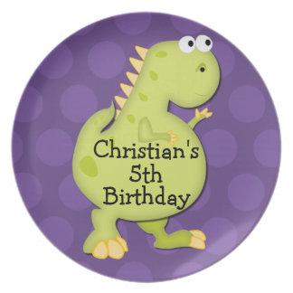 Dinosaur Birthday Party Treat Keepsake Plate