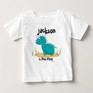 Dinosaur Birthday Shirt 4 Years Old