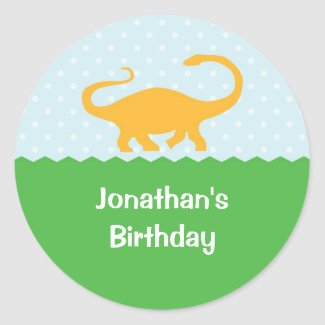 Dinosaur Birthday Sticker sticker
