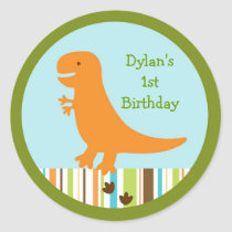 Dinosaur Birthday Stickers