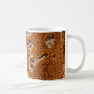 Dinosaur bone under the microscope coffee mug