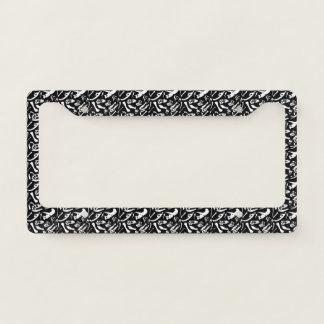 Dinosaur Bones (Black and White) License Plate Frame
