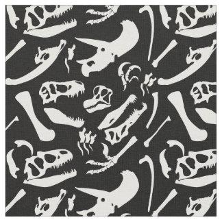 Dinosaur Bones (Black) Fabric