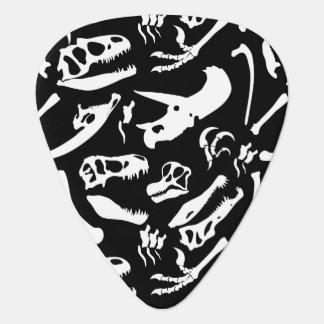 Dinosaur Bones (Black) Guitar Pick