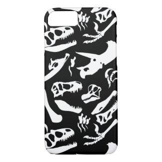 Dinosaur Bones (Black) iPhone 7 Case