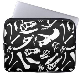 Dinosaur Bones (Black) Laptop Sleeve