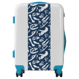 Dinosaur Bones (Blue) Luggage