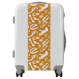 Dinosaur Bones (Gold) Luggage