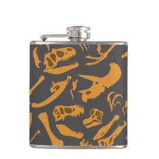 Dinosaur Bones (Grey) Flask