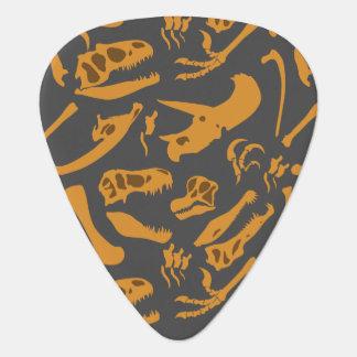 Dinosaur Bones (Grey) Guitar Pick