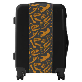 Dinosaur Bones (Grey) Luggage