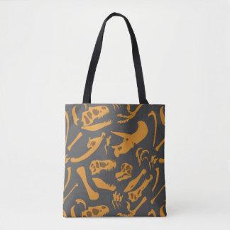 Dinosaur Bones (Grey) Tote Bag