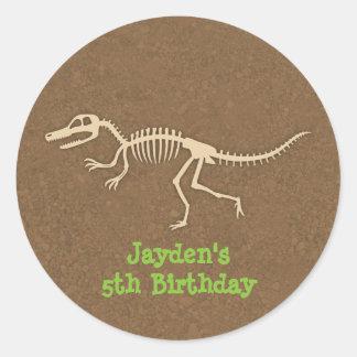 Dinosaur Bones Kids Birthday Party Labels