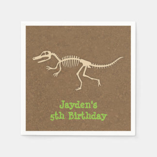 Dinosaur Bones Kids Birthday Party Supplies Napkin