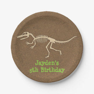 Dinosaur Bones Kids Birthday Party Supplies Paper Plate