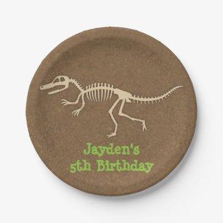 Dinosaur Bones Kids Birthday Party Supplies Paper Plate