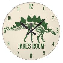 Dinosaur Bones Personalized Large Clock