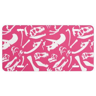 Dinosaur Bones (Pink) License Plate