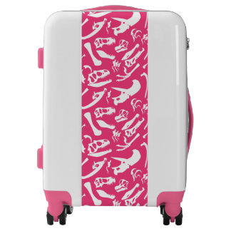 Dinosaur Bones (Pink) Luggage