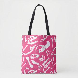 Dinosaur Bones (Pink) Tote Bag