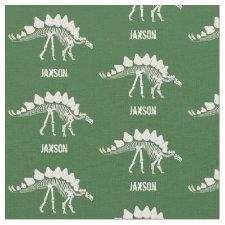 Dinosaur Bones with Name Fabric