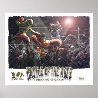 Dinosaur Boxing Poster