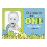Dinosaur Boy First Birthday Party 4.5x6.25 Paper Invitation Card