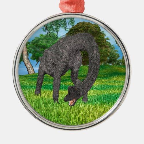 Dinosaur Brachiosaurus Metal Ornament