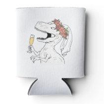 Dinosaur Bride Beer Cooler