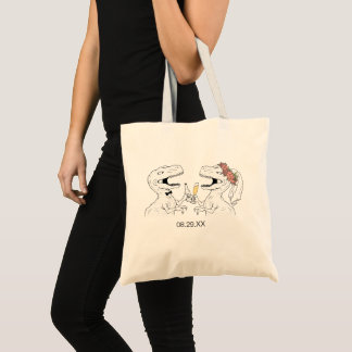 Dinosaur Bride   Groom Tote