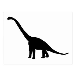 Dinosaur Brontosaurus Black and White Postcard