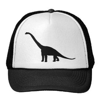 Dinosaur Brontosaurus Black and White Trucker Hat