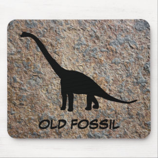 Dinosaur Brontosaurus Old Fossil Mouse Pad