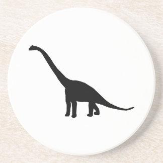 Dinosaur Brontosaurus Silhouette Coaster