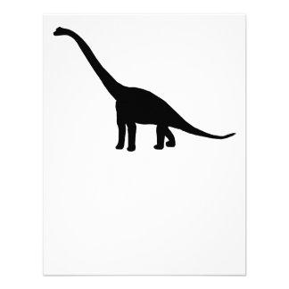Dinosaur Brontosaurus Silhouette Custom Invitation
