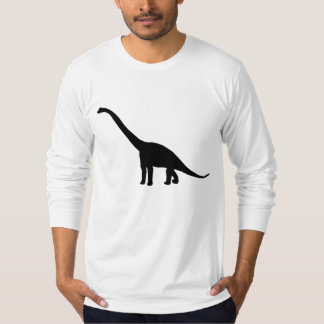 Dinosaur Brontosaurus Silhouette T Shirt