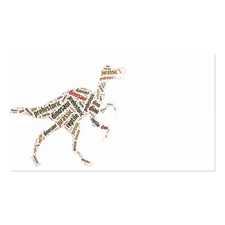 Dinosaur Double-Sided Standard Business Cards (Pack Of 100)