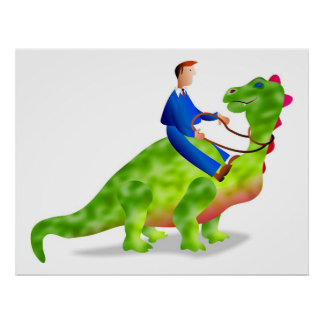 Dinosaur Business Posters