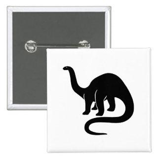 Dinosaur Button Black