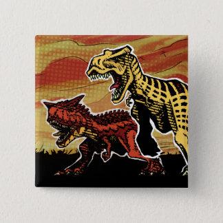 Dinosaur Button - T-Rex and Carnotaurus